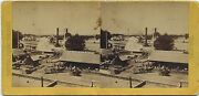 Alfred A. Hart Stereoview 1860and039s Cprr Steamer Chrysoplis California