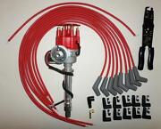 Chevy 396-427-454 Red Small Hei Distributor,universal Spark Plug Wires 45s-crimp