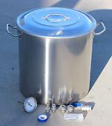 New Home Brew Kettle Diy Kit Stainless Stock Pot W/ Beer Accessories Mash Tun