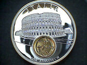 Italy Commemorative Medalion European Currencies Serie Coin Inlay M.