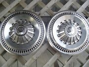 Two 1965 65 1966 66 Ford Galaxie Hubcaps Wheelcovers Center Cap Antique Vintage