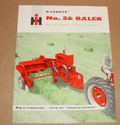 Old International Harvester Mccormick No 56 Baler Brochure