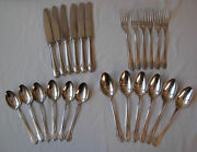 Antique Boxed 800 Silver Cutlery 24 Pieces- 1050 Grams- By Bruckmann And Sohne