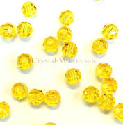 Light Topaz 226 Elements 5000 Crystal Round Beads 4mm 6mm 8mm