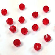 Light Siam 227 Elements 5000 Crystal Round Beads 4mm 6mm 8mm