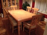 Ashley Dining Room Set With Lighted Hutch