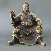 Classic Chinese Famous General During The Three Kingdoms Guan Gong Bronze Statue