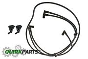 2013-2017 Jeep Wrangler Front Windshield Washer Nozzles And Hose Oem New Mopar