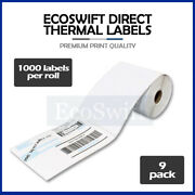 9 Jumbo Rolls 1000 4 X 6 For Zebra Eltron Direct Thermal Printer 9000 Labels 4x6