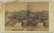 Nevada Continent Stereoscopic Co. Stereoview 1860and039s Town View Of Gold Hill Nv
