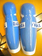 Nos Oneal Oand039neal Blue And White Knee And Shin Guard Pair Approximately 14.5x4.50
