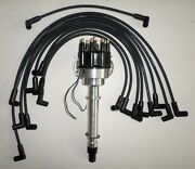 Sbc Chevy 350 Pro-billet Distributor And Black Spark Plug Wires Over Valve Covers