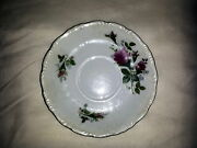 Lefton China Rose And Rosebud Saucer Only Discontinued Pattern Lef58