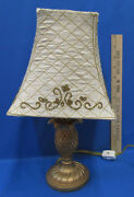 Pineapple Lamp With Beaded Fabric Shade And Bulb Included Yellow Cord 15 Watt