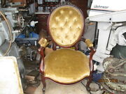 Nice 19th Century Victorian Carved Rosewood Gentleman's Arm Chair Rose Carving