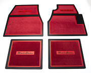 55 56 57 Chevy Red Carpet Floor Mats With Bel Air Logo 1955 1956 1957 Chevrolet
