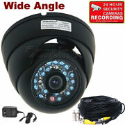 4x Dome Security Camera Ir Day Night Outdoor Wide Angle W/ Video Power Cable Md8