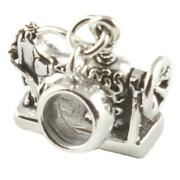 Antique Sewing Machine 3d Sterling Silver Dangle Charm / Carrier Bead - Crafts