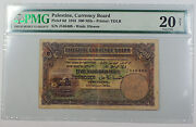 1945 Palestine Currency Board 500 Mils Note Pick 6d Pmg 20 Vf Discoloration