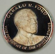 Gerald R Ford First Vice President Under 25th Amendment Large Pure Silver Medal