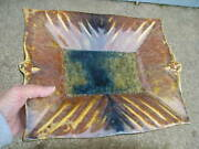 Vintage Stunning Campbell Pottery Dish~Tray~Plate Rust Crystaline Glaze Lovely