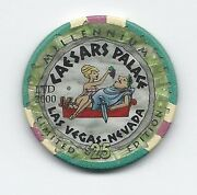 Casino Collection 25 Chip Caesars Palace Millennium. Year Of 2000 Rare