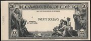 Canada 20 1935 The Canadian Bank Of Commerce Face Die Essay Wl6925