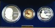 1993 Us Mint Bill Of Rights Commem 3 Coin Silver And Gold Proof Set As Issued Dgh