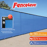 Blue 6and039x50and039 Fence Privacy Screen Windscreen Shade Cover Mesh Fabric Tarp Pool