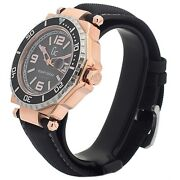 New Guess Collection Gc Watch 2 Tone Rose Gold And Ss Date Black Strap X79002g2s