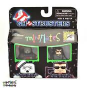 Ghostbusters Minimates Sdcc Exclusive Glow In Dark Stay Puft And Gb2 Peter Venkman
