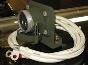 Military Mep-002a Mep-003a Generator 2 Pin Slave Port Plug Receptacle And Cable
