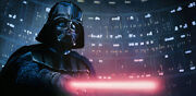 Darth Vader Lightsaber Useless To Resist The Dark Side Of Force Giclée On Canvas