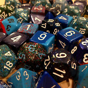 Chessex By Color - 3 Ounces Assorted Blue Dice From Pound-o-dice - Pound Dice
