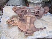 Antique Rare Jamesway Cast Iron Hay Barn Trolley Unloader Carrier Farm Pulley