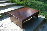 Handcrafted Heavy Duty Wooden Step Stool 18 Extra Deep 24 9 Kitchen Bedside