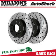 Front Drilled Slotted Disc Brake Rotors Pair 2 For Chevrolet Silverado 1500 6.2l