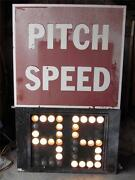 Authentic 8and039 Pitch Speed Lighted Sign Peoples Natural Gas Stadium Altoona 8879