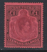 Leeward Islands 1938-51 Andpound1 With Broken Lower Right Scroll Sg 114ae Mint.