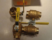 Hico Qty 4 New Plumbing 1 1/2 Solid Brass Ball Valve Made In Italy 600wog