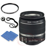 Canon Ef-s 18-55mm Is Ii Lens W/ 58mm Uv Filter, Cap Keeper And Microfiber Cloth