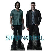 Sam And Dean Winchester Supernatural Ackles Cardboard Cutout Standup Standee F/s
