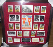 Manchester United 1968 European Cup Winners Signed Montage Aftal