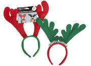 24 X Reindeer Antlers On Headband Christmas Fancy Dress Office Xmas Party Stag