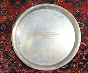 Fine Old Baldwin And Miller Sterling Silver Trophy Tray Cornell Class President