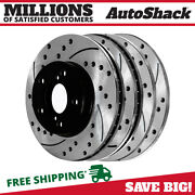 Front And Rear Drilled Slotted Disc Brake Rotors Set Of 4 For Subaru Impreza 2.5l