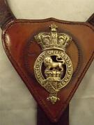 Ww11 English Leather Cavalry Military Horse Saddle Attachment Breastplate.