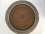 Handcrafted Round Placemat Weaving Patterns With Soda Tabs Accent- Set Of 6