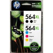 5-pack Hp Genuine 564xl Black And Color Ink Retail Box Photosmart 6510 6515 6520