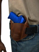 New Barsony Brown Leather Belt Slide Holster Sig Sauer Walther 380 Ultra Comp 40